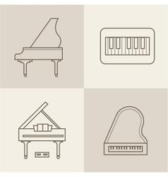 Piano icons vector