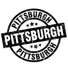 Pittsburgh black round grunge stamp vector