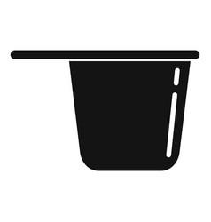 Plastic tableware pot icon simple style vector