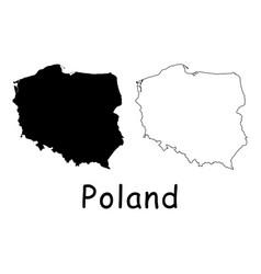 Poland map vector