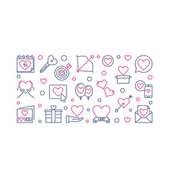 saint valentines day outline vector image