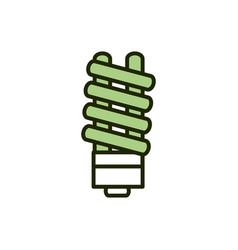 saving light bulb environment ecology line vector image