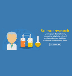 science research banner horizontal concept vector image