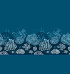 seabed for the substrate of your printing or web vector image