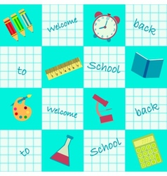 seamless background back to school vector image