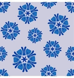 Seamless pattern blue boho chic vector