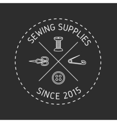 Sewing logo 2 vector