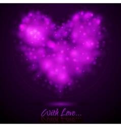Shiny lights abstract heart vector image