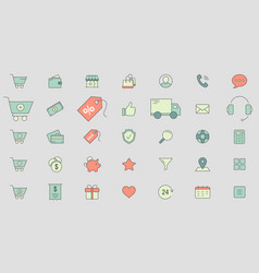 shopping icons 03 vector image