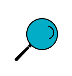 Simple line icon search sign eps10 vector