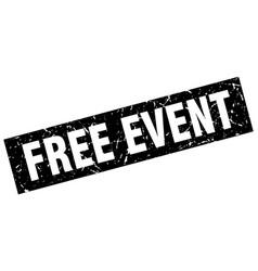 Square grunge black free event stamp vector