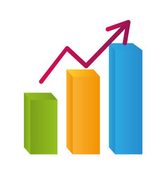 statistics graphics cartoon vector image
