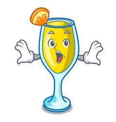 Surprised mimosa mascot cartoon style vector