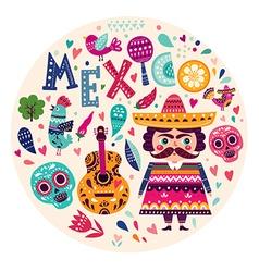 symbols mexico vector image