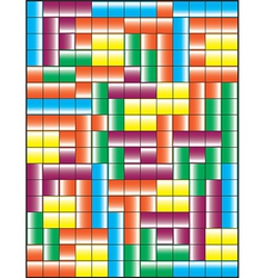 Tetris puzzle game vector image
