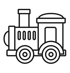 toy train icon outline style vector image