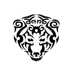 tribal bear black animal print for t vector image
