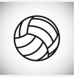 Volleyball ball icon on white background for vector