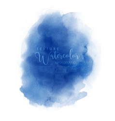 Watercolor hand painted abstract blue cloud design vector