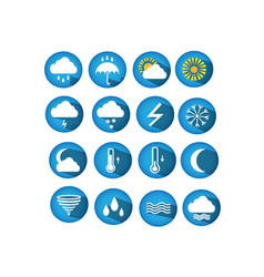 weather round web icons for websites vector image vector image