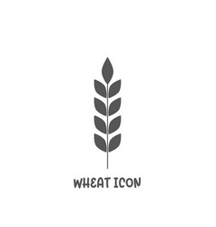 wheat icon simple flat style vector image