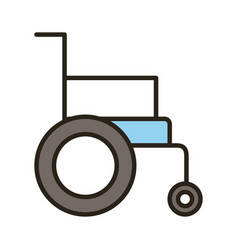 Wheelchair disable line and fill style icon vector