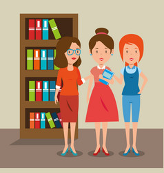 Women teacher in the classroom vector