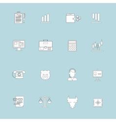 Finance exchange icons flat line vector image vector image
