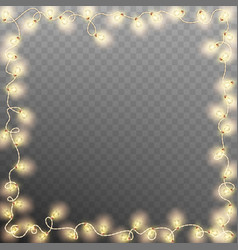 frame with vintage garlands eps 10 vector image vector image