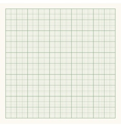 Green graph paper on light background vector image vector image