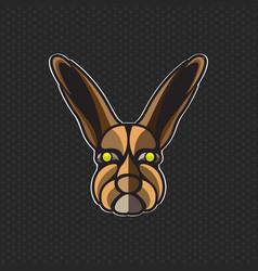 Rabbit logo design template rabbit head icon vector