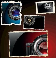 retro photo frames vector image vector image
