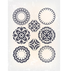 set of antique arabesque vector image vector image