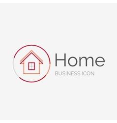 Thin line neat design logo home idea vector image vector image