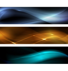 Abstract wave banner vector image vector image