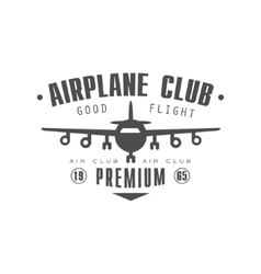 Airplane Club Premium Emblem Design vector image vector image