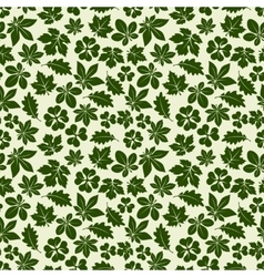 Nature seamless pattern with green leaves vector image