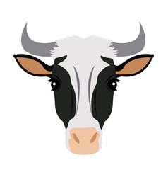 spotted cow set cute farm vector image