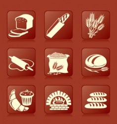 bread button vector image