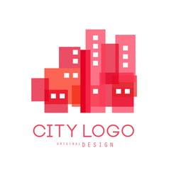 city logo original design modern design of real vector image