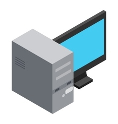 Computer icon cartoon style vector image