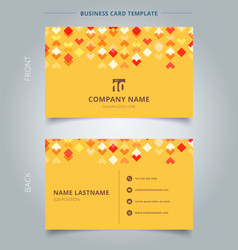creative business card and name card template red vector image vector image