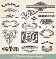 menu element vector image