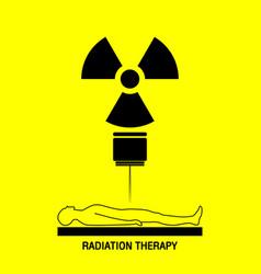Radiation therapy medical logo icon design vector
