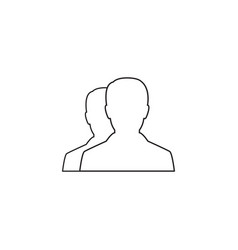 user line icon profile outline logo vector image vector image