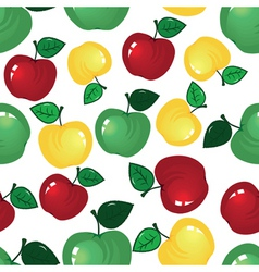 vector fruit icon apple seamless background fabric vector image