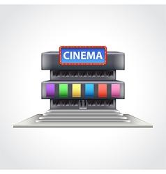 Cinema building isolated vector