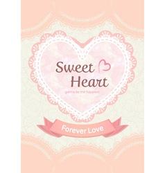 cute pastel sweet elegant soft orange peach lace vector image vector image