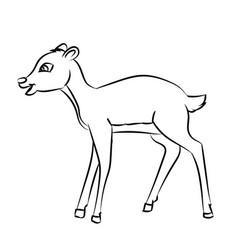 deer rat cartoon - line drawn vector image vector image