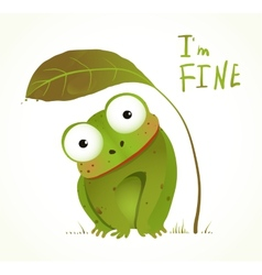 Green Baby Frog Childish Animal Fun Cartoon vector image vector image